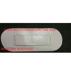 MERCURY SEAT PAD PVC GRAY 818701007