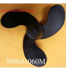 Tohatsu Nissan 2 - 3.5 HP Propeller 309641060M 5.7 Pitch Resin 3 Blade
