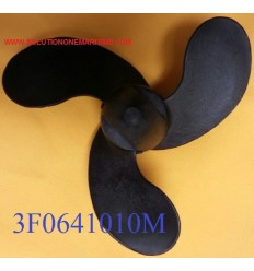 Tohatsu Nissan 2 - 3.5 HP Propeller 3F0641010M 7 Pitch Resin 3 Blade