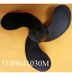 Tohatsu Nissan 2 - 3.5 HP Propeller 314B641030M 4.5 Pitch Resin 3 Blade