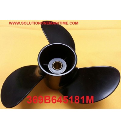 Tohatsu Nissan 4, 5 & 6 HP Propeller 369B645181M 9 Pitch Aluminum 3 Blade