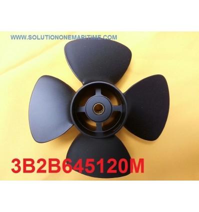 Tohatsu Nissan 8 & 9.8 HP Propeller 3B2B645120M 7 Pitch Aluminum 4 Blade