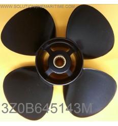 Tohatsu Nissan 9.9, 12, 15, 18 & 20 HP Propeller 3Z0B645143M 7 Pitch Aluminum 4 Blade