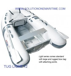 Tug Inflatable 12 Light PVC Aluminum Hull Free Shipping