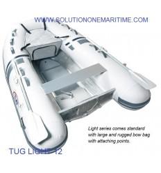 Tug Inflatable 12 Light PVC Aluminum Hull Free Shipping