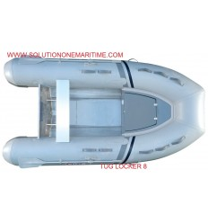 Tug Inflatable 8 Locker PVC Aluminum Hull Free Shipping