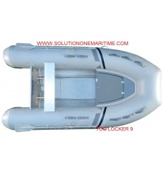 Tug Inflatable 9 Locker PVC Aluminum Hull Free Shipping