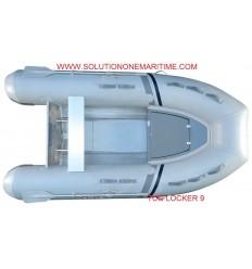 Tug Inflatable 9 Locker Hypalon Aluminum Hull Free Shipping