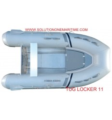 Tug Inflatable 11 Locker PVC Aluminum Hull Free Shipping