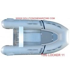 Tug Inflatable 11 Locker Hypalon Aluminum Hull Free Shipping