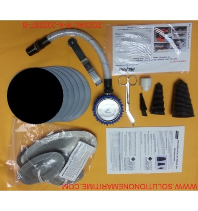 Zodiac Hurricane Major Emergency Repair Kit Hypalon Black R-K-2002-ST-B