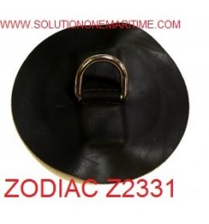 Zodiac Z2331 D-Ring Hypalon Black 25mm Uncoated