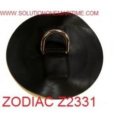 Zodiac Z2331 D-Ring Hypalon Black 25mm Uncoated