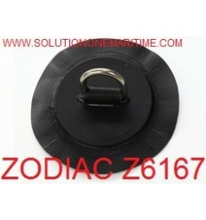 Zodiac Z6167 D-Ring PVC Black 25mm Uncoated