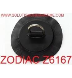 Zodiac Z6167 D-Ring PVC Black 25mm Uncoated