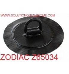 Zodiac Z65034 D-Ring PVC Black 25mm Coated