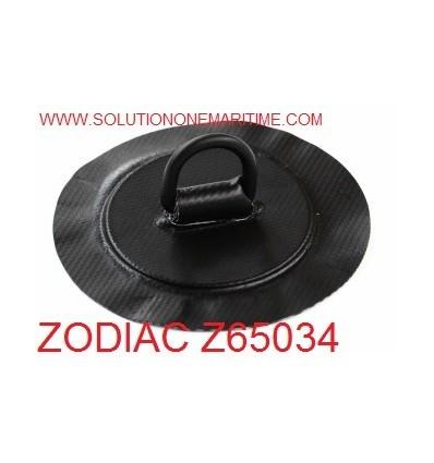 Zodiac Z65034 D-Ring PVC Black 25mm Coated