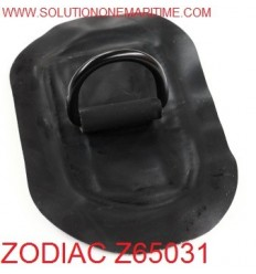 Zodiac Z65031 D-Ring Hypalon Black 53mm Oval Coated