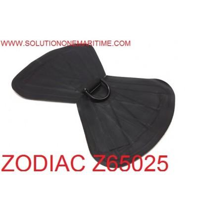Zodiac Z65025 D-Ring Double Heavy Duty Tow Hypalon Black Coated