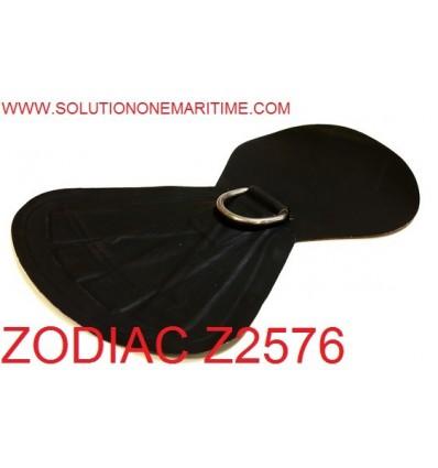 Zodiac Z2576 D-Ring Heavy Duty Tow Hypalon Black Uncoated