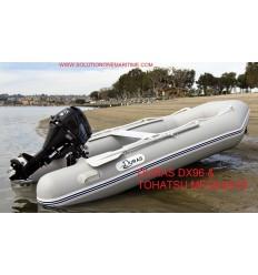 Duras 290 Air Deck Gray PVC & Tohatsu 9.8 hp [290ADDURAS9.8] Free Shipping