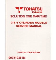 Tohatsu Outboard Service Manual Two Stroke 3 & 4 Cylinder Models 003210361M