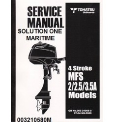 Tohatsu Outboard Service Manual Four Stroke 2 hp, 2.5 hp & 3.5 hp A Models 003210580