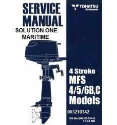 Tohatsu Outboard Service Manual Four Stroke 4 hp, 5 hp & 6 hp B & C Models 003210342