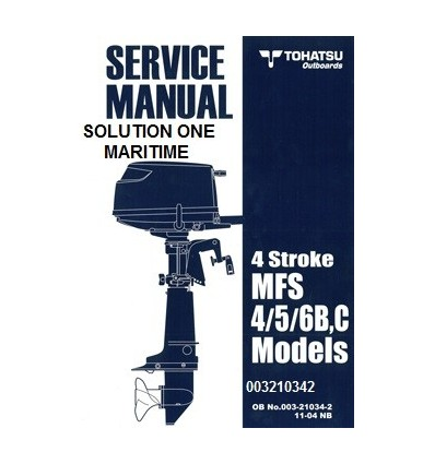Tohatsu Outboard Service Manual Four Stroke 4 hp, 5 hp & 6