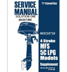 Tohatsu Outboard Service Manual Supplement Four Stroke Propane 5 hp 003210710