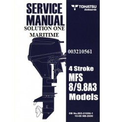 Tohatsu Outboard Service Manual Four Stroke 8 hp & 9.8 hp A Models 003210561