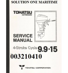 Tohatsu Outboard Service Manual Four Stroke 9.9 hp, 15 hp & 18 hp A & B Models 003210410