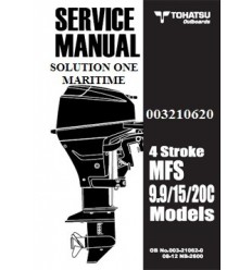 Tohatsu Outboard Service Manual Four Stroke 9.9 hp, 15 hp & 18 hp C Models 003210620