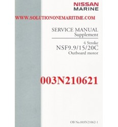 Tohatsu Outboard Service Manual Supplement Four Stroke  9.9-18 C Power Tilt 003N210621