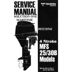 Tohatsu Outboard Service Manual Four Stroke 25 hp & 30 hp B Models 003210541