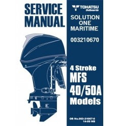 Tohatsu Outboard Service Manual Four Stroke 40 HP & 50 HP A Models 003210670