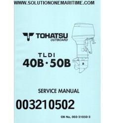Tohatsu Outboard Service Manual TLDI Two Stroke 40 HP & 50 HP B Models 003210502