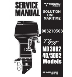 Tohatsu Outboard Service Manual TLDI Two Stroke 30 HP, 40 HP & 50 HP B2 Models 003210503