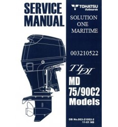 Tohatsu Outboard Service Manual TLDI Two Stroke 75 HP & 90 HP C2 Models 003210522