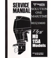 Tohatsu Outboard Service Manual TLDI Two Stroke 115 HP A Models 003210600