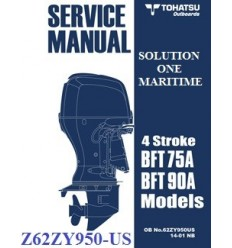 Tohatsu Outboard Service Manual Four Stroke 75 HP BFT75A & 90 HP BFT90A 62ZY950-US