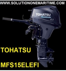 Tohatsu 15 HP 4-STK 2018 EFI Long Shaft [MFS15EL] Free Shipping
