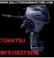 Tohatsu 15 HP 4-STK 2018 EFI Electric Tiller Short Shaft [MFS15EEFS] Free Shipping