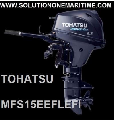 Tohatsu 15 HP 4-STK 2018 EFI Electric Tiller Long Shaft [MFS15EEFL] Free Shipping