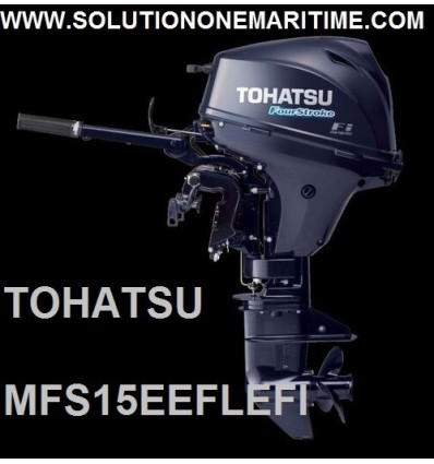Tohatsu 15 HP 4-STK  EFI Electric Tiller Long Shaft [MFS15EEFL]
