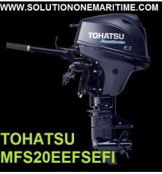 Tohatsu 20 HP 4-STK 2018 EFI Electric Start, Tiller, Short Shaft [MFS20EEFS] Free Shipping