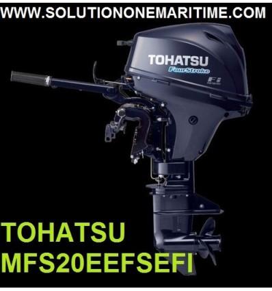 Tohatsu 20 HP 4-STK EFI Electric Start, Tiller, Short Shaft [MFS20EEFS]