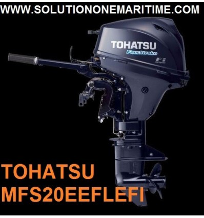 Tohatsu 20 HP 4-STK 2020 EFI Electric Start, Tiller, Long Shaft [MFS20EEFL] Free Shipping