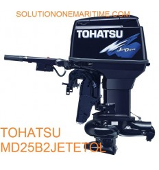 Tohatsu 25 HP 2-STK 2018 DFI Jet Tiller Electric Power Trim Long Shaft [MD25B2JETETOL] Not Shippable