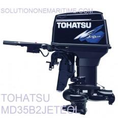 Tohatsu 35 HP 2-STK 2018 DFI Jet Tiller Electric Long Shaft [MD35B2JETEOL] Not Shippable